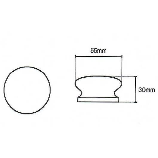 Beech kitchen door knob diagram