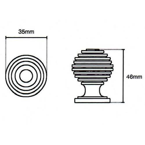 Beehive kitchen door knob diagram