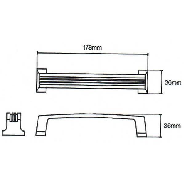 Cromwell Reeded D Door Handle 069 Diagram