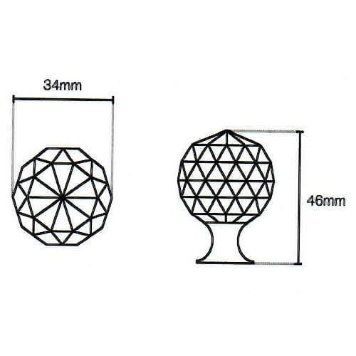Crystal kitchen knob diagram