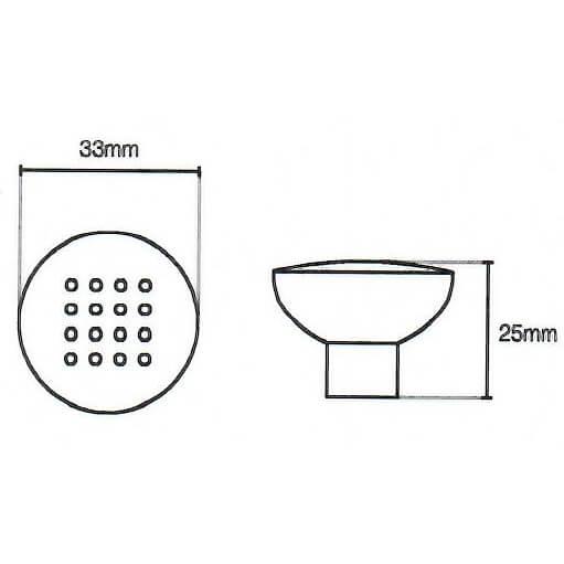 Dimple Kitchen Door Knob Diagram