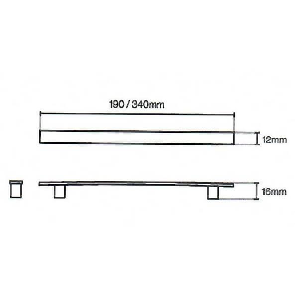 Flat Curve Door Handle Diagram