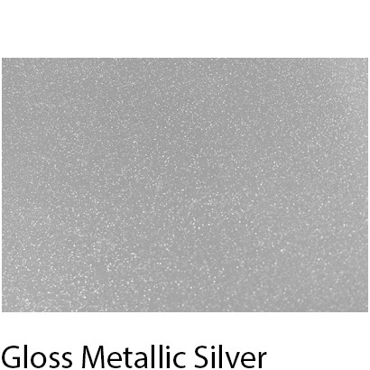 High Gloss Vivid Metallic Silver