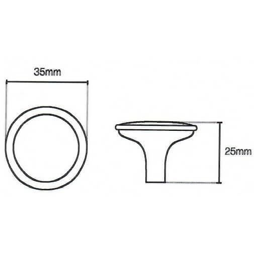 Hammered Pewter Knob Door Handle 045 Diagram