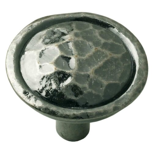 Hammered Pewter Knob Door Handle 045