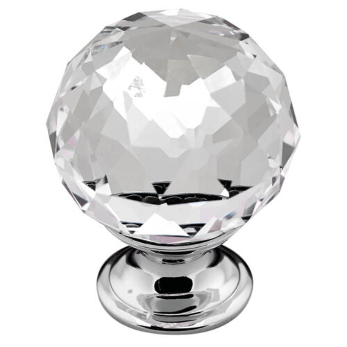 Clear Crystal Door Knob 082
