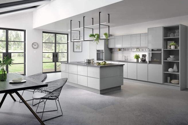 Kassel Kitchen Gloss Light Grey