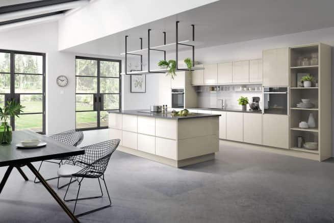 Kassel Kitchen Gloss Ivory