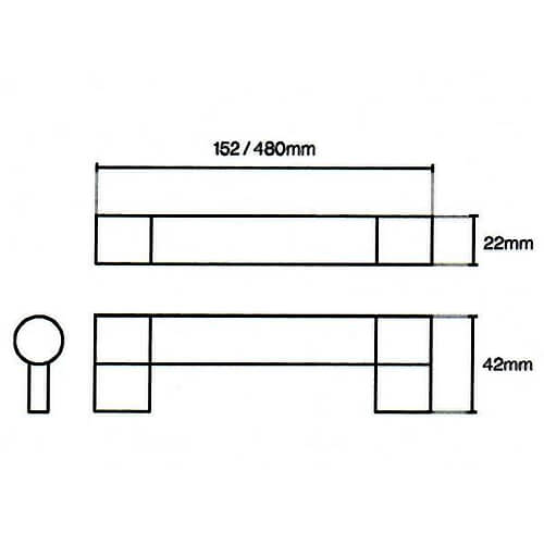 Keyhole Bar Handle Diagram