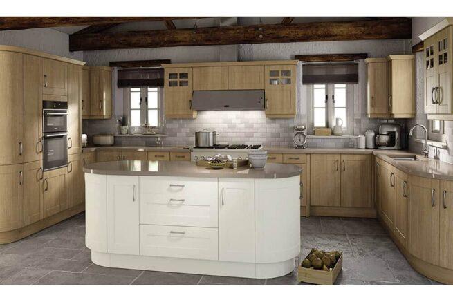 Ktchen 5G Bonn Trojan Oak Pure White