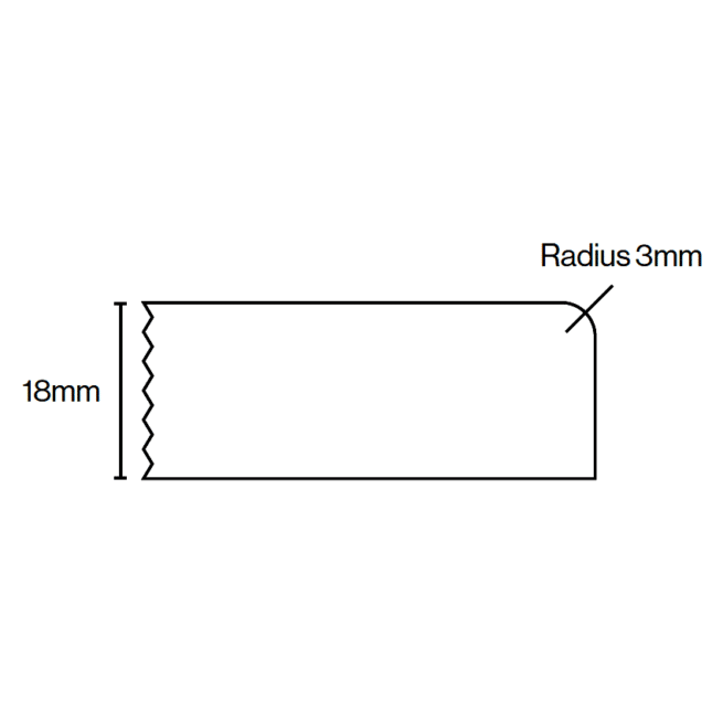 Kitchen Door Profile Edge 1 18mm