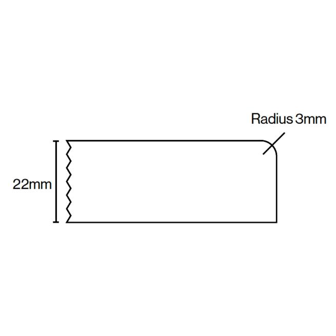 Kitchen Door Profile Edge 1 22mm