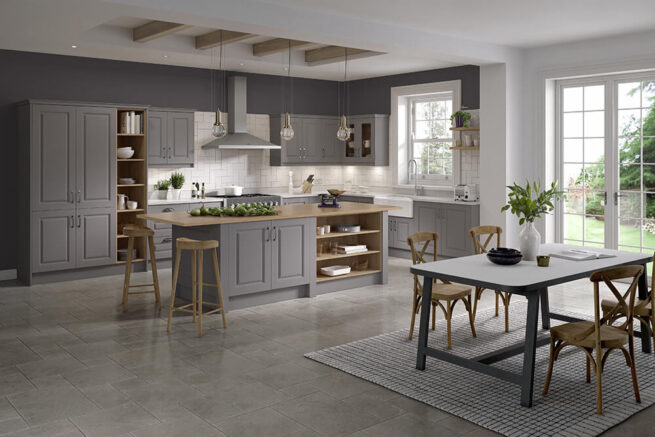 Lincoln Serica Dust Grey Kitchen