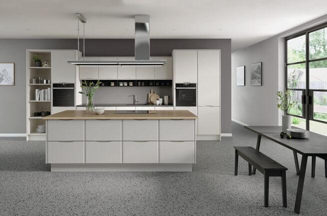Loretto Kitchen in Serica Taupe Grey