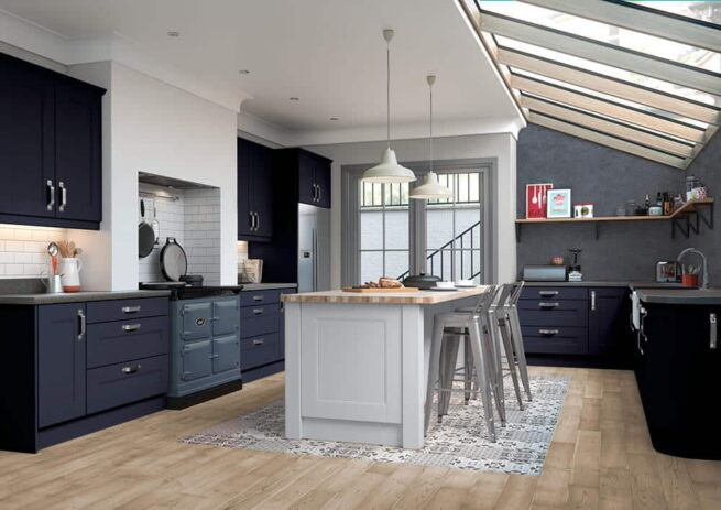 Mason Kitchen Serica Indigo Light Grey