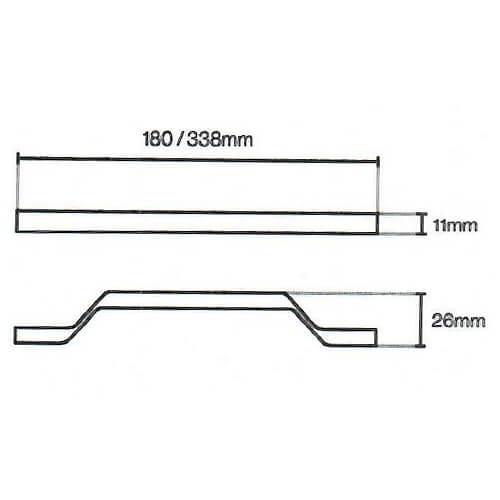 Soho Strap Pewter Door Handle 110 Diagram