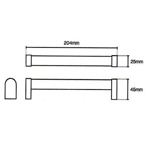 Tubular Boss Bar Handle Diagram