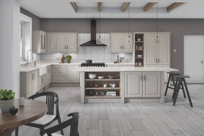 Verona Arched Serica Taupe Grey