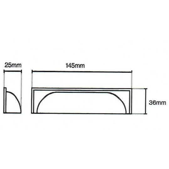 Windsor Modern Door Cup Handle Diagram