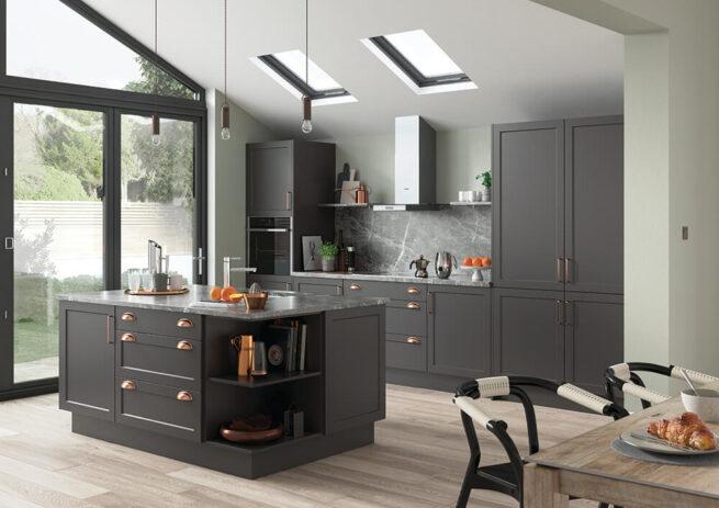 Woking Replacement Kitchen Door S1 Serica Graphite
