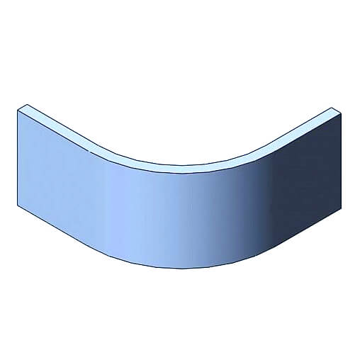 Curved Plain Plinth