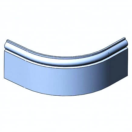Curved Torus Profiled Plinth