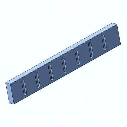 Fluted Rail 2500 x 60mm