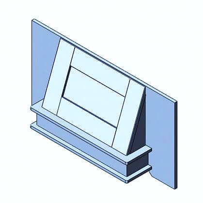 Traditional Canopy Fascia & Base 1000mm