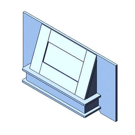 Traditional Canopy Fascia & Base 800mm