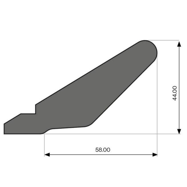 Tangent Cornice Diagram