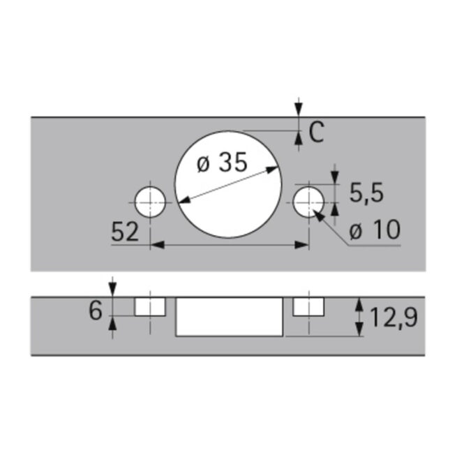 Hettich 9073614 Tech Diagram