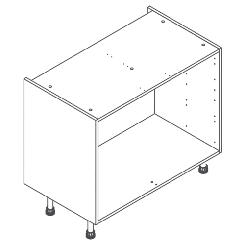 Clicbox 1000 Full Kitchen Drawer Base Cabinet