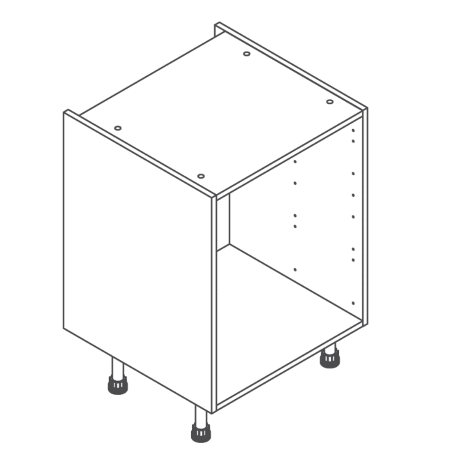 Clicbox 600 Full Kitchen Drawer Base Cabinet