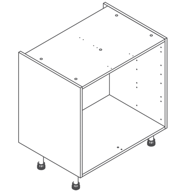 Clicbox 800 Full Kitchen Drawer Base Cabinet