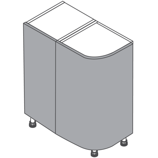 Clicbox H720 W300 Curved Kitchen Base Unit