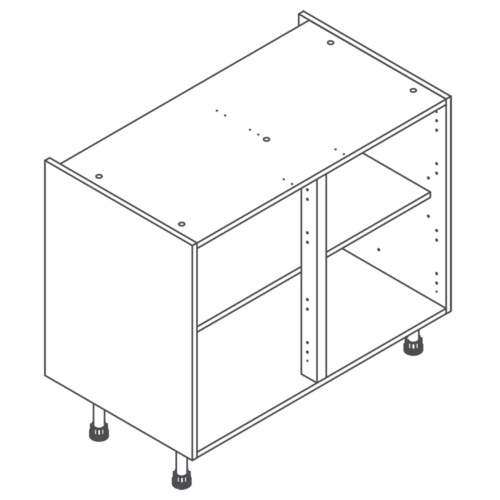 H720 W1000 Clicbox Kitchen Cabinet Base Unit