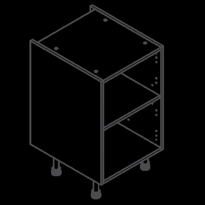 H720 W500 Clicbox Kitchen Cabinet Base Unit