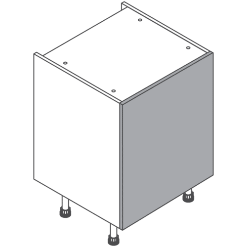 H720 W600 Clicbox Kitchen Cabinet Base Unit