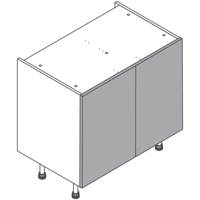 H720 W900 Clicbox Kitchen Cabinet Base Unit
