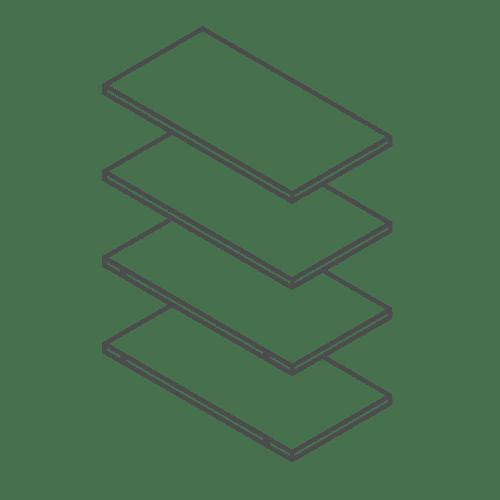 300 Tall Kitchen Cabinet / Larder Shelf Pack of 4