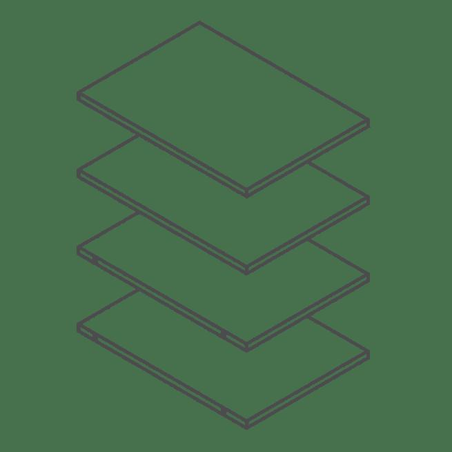 400 Tall Kitchen Cabinet / Larder Shelf Pack of 4