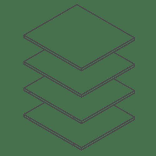 500 Tall Kitchen Cabinet / Larder Shelf Pack of 4
