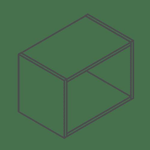 Clicbox 360 x 500 Bridge Wall Cabinet Unit