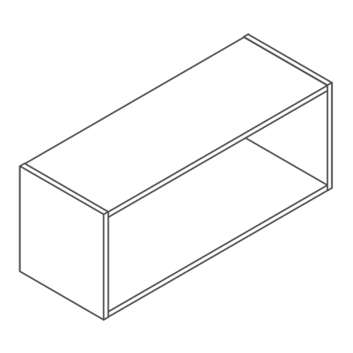 Clicbox 360 x 600 Bridge Wall Cabinet Unit