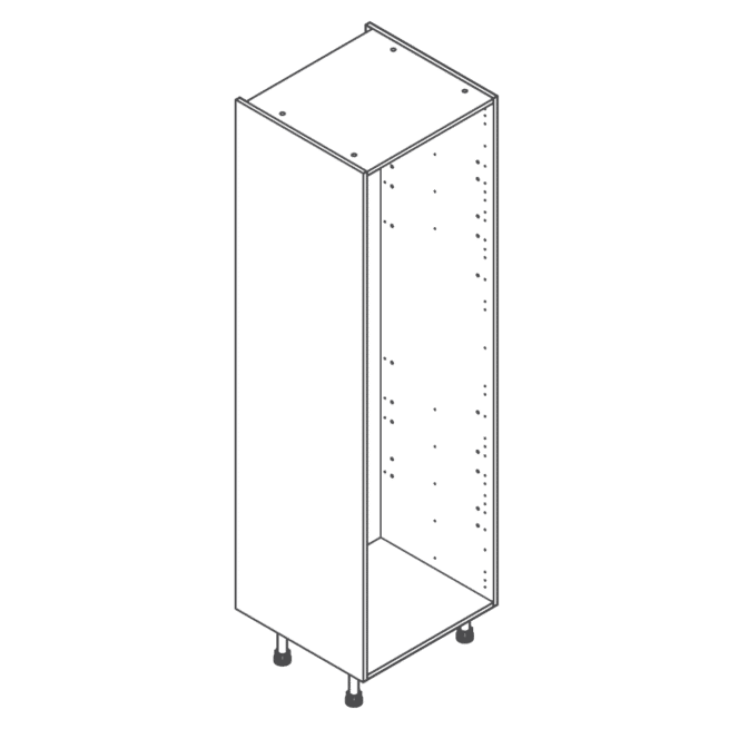 ClicBox Tall Kitchen Cabinet Unit 2120 x 600mm White