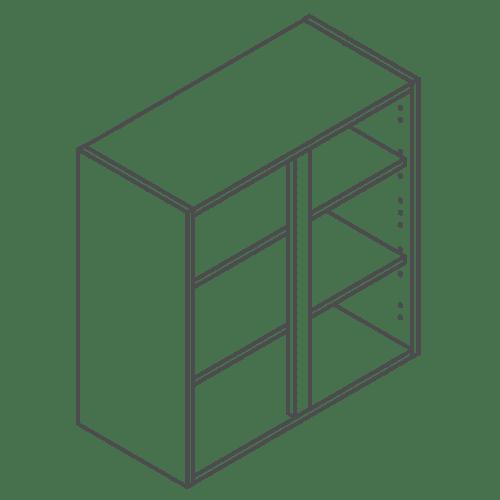 ClicBox 720 x 700 Wall Kitchen Unit