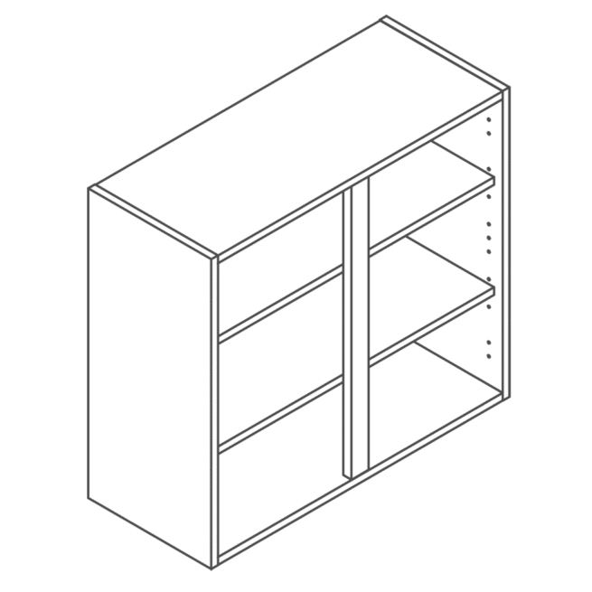 ClicBox 720 x 800 Wall Kitchen Unit