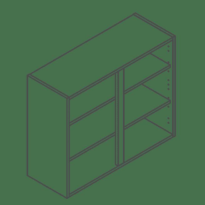 ClicBox 720 x 900 Wall Kitchen Unit
