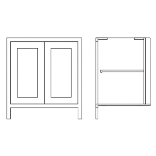 Pure Base Double Door Cabinet