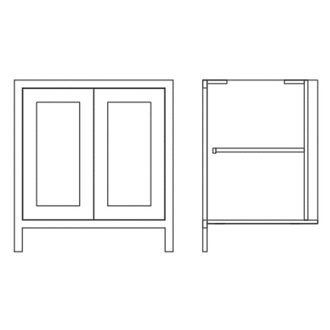 Pure Base Double Door Cabinet